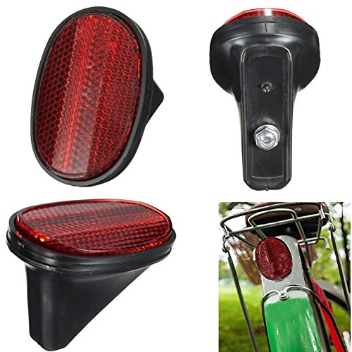 Mimgo Store Red Bicycle Bike Rear Fender Safety Warnning Reflector Tail MudGuard Cycling