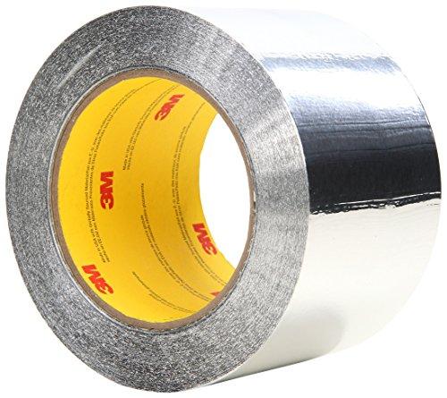(3M(TM) Aluminum Foil Tape 34383 Silver, 3 in x 60 yd 4.5 mil (Pack of 12))
