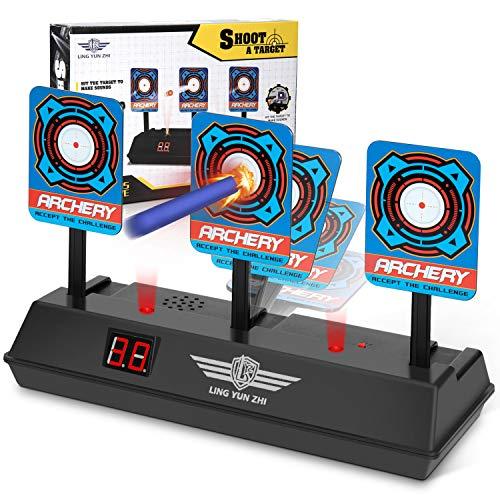 Electronic Gun - Electronic Digital Target for Nerf Guns, Keten Auto-Reset Intelligent Light Sound Effect Scoring Target for Nerf N-Strike Elite/Mega/Rival Series (Only Target)