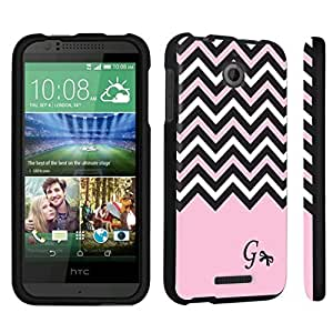 DuroCase ? HTC Desire 510 Hard Case Black - (Black Pink White Chevron G)