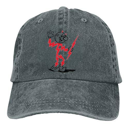 Mei73youguan Men's Women's Unisex Sport Reddy Kilowatt Retro Mascot Adult Cowboy Headgear Deep Heather -