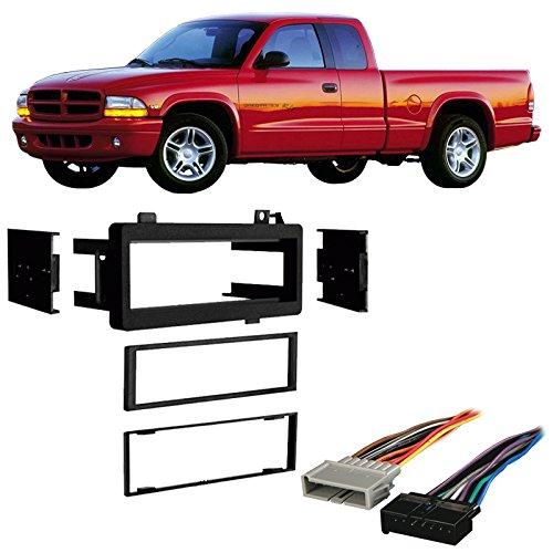 Fits Dodge Dakota 1987-2000 Single DIN Stereo Harness Radio Install Dash Kit