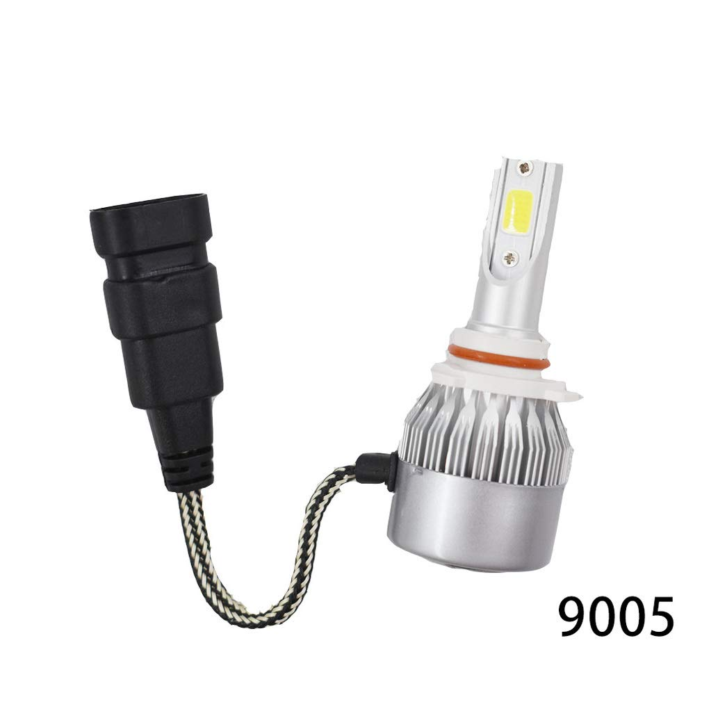 2 Sets 9005+9006 Combo LED High//Low Beam Headlight Conversion Kit Light Bulbs 6000K White COB Chips HB3 HB4 Fits for GMC Sierra 2500 3500
