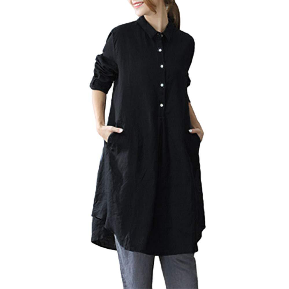 Blusa Mujer, BBestseller Otoño e Invierno Blusas para Mujer Camisas Mujer Solapa Larga sección Manga Larga Blusas Sudadera con Capucha Tops Camisetas Mujer: ...