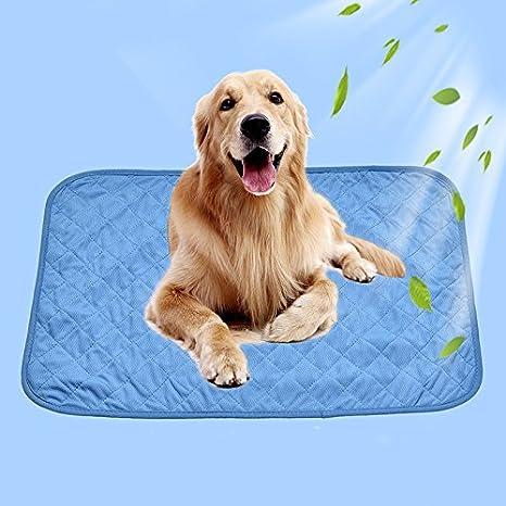 Alfombrilla refrigeradora para perros, gatos y otras mascotas fabricada con un tejido de viscosa refrescante