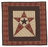Primitive Country Star Wall Hanging Quilt 18 Inches by 18 Inches 100% Cotton Handmade Hand Quilted Heirloom Quality