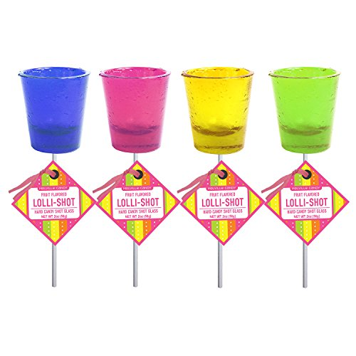 (Assorted Fruit Flavored Lollishot Lollipop Shot Glass (12)