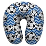 OASBHDUS159 Soccer Blue Sleep Artifact - U-shaped Pillow, Travel Neck Pillow To Sleep At Any Time