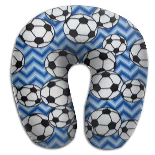 OASBHDUS159 Soccer Blue Sleep Artifact - U-shaped Pillow, Travel Neck Pillow To Sleep At Any Time by OASBHDUS159