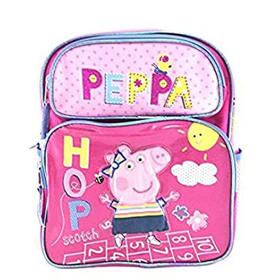 "durable modeling Peppa Pig Girls 12"" Shine Pink Scotch School Backpack"