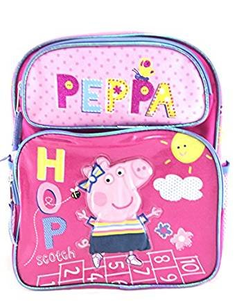 """Pequeña mochila – Peppa Pig – brilla 12 """"Bolso de escuela ..."""