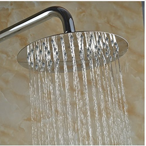 Gowe 10-in Chorme Polish Shower Set Bathroom Wall Mounted Single Handle Mixer Faucet Square Shower Head 2