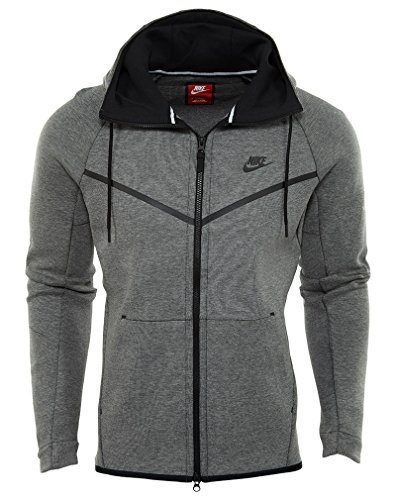 Nike Sportswear Tech Fleece Full Zip Windrunner Jacket (3XL, Carbon Heather Grey/Black) by NIKE