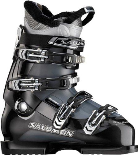Salomon Mission 4 Ski Boots Black/Gun Metal Translucent Mens