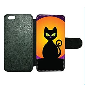 Case Fun Case Fun Halloween Cat Faux Leather Wallet Case Cover for Apple iPhone 6 4.7 inch