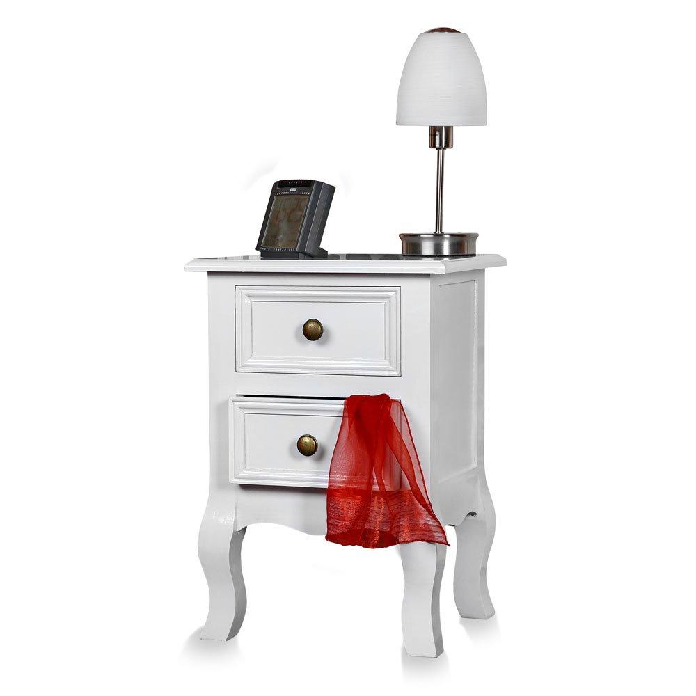 Unbekannt Paese Casa Cassettiera comodino armadio bianco tavolo shabby comodino Melko
