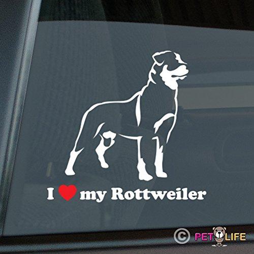 I Love My Rottweiler Sticker Vinyl Auto Window rotty rott rottie Mister Petlife PD-0294
