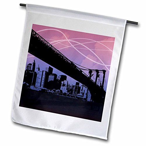 3dRose fl_34485_1 Brooklyn Bridge Garden Flag, 12 by 18-Inch (Bridge Brooklyn 1)