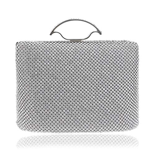 Silver American bag BLACK Luxury Style Clutch evening Handbag Bag Diamond Banquet FLY Portable Evening Dress Fly53 European And Bag Color Ladies Luxury Uw1ctq