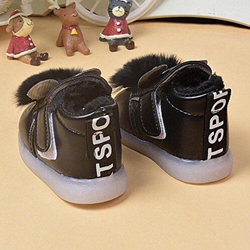 Zapatos Para Bebé,Xinantime Primeros Pasos Cuero Niños Niñas Invierno (15, Rosa) Negro