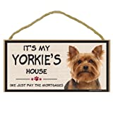 Imagine This Wood Breed Decorative Mortgage Sign, Yorkie