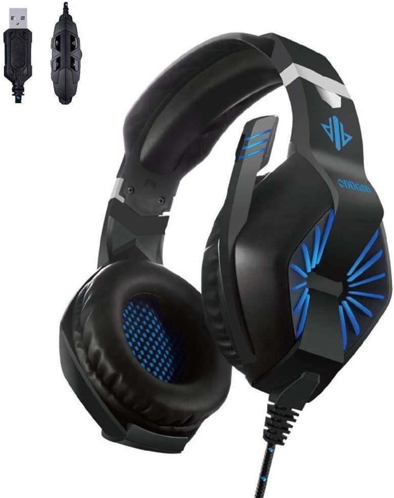 BB Noise Canceling 7.1 HD Stereo Noise Gaming Headphones 7.1 HD Stereo PC Gaming Headphones Headphones Comfortable and Durable 3.5Mm b0101