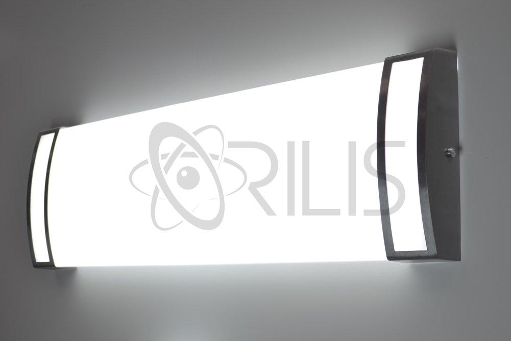Orilis 48W LED 2-ft. 4-Light Luxury Brushed Nickel Hardwired Ceiling Fixture - (4) 12W LED T8 Tubes Included - 6000 Lumens - 6500K by Orilis (Image #4)