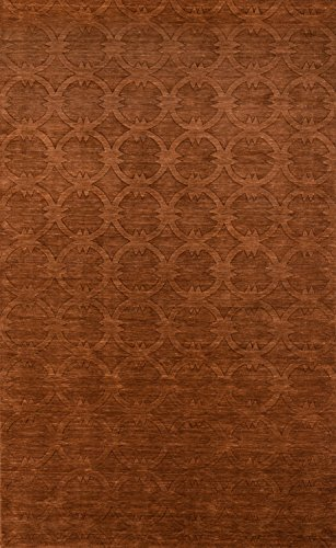 Momeni Rugs GRAMEGM-13COP80B0 Gramercy Collection, 100% Wool Hand Loomed Contemporary Area Rug, 8' x 11', (Copper Wool Rug)