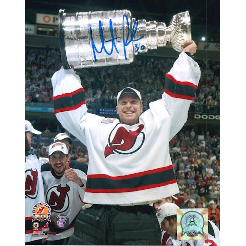 Martin Brodeur Autographed 8X10 Photo (w/Cup)