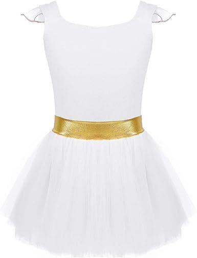 Alvivi Vestido Tutú de Malla Danza Ballet para Niña Fiesta Maillot ...