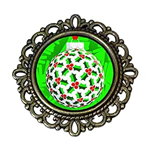 Chicforest Ancient Style Colorful Christmas ball Flower Pin Brooch