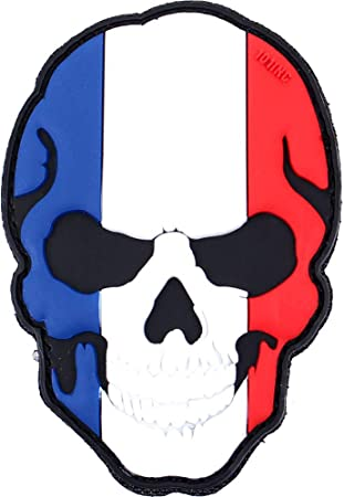 France 101 INC PVC 3D Skull Patch with Velcro