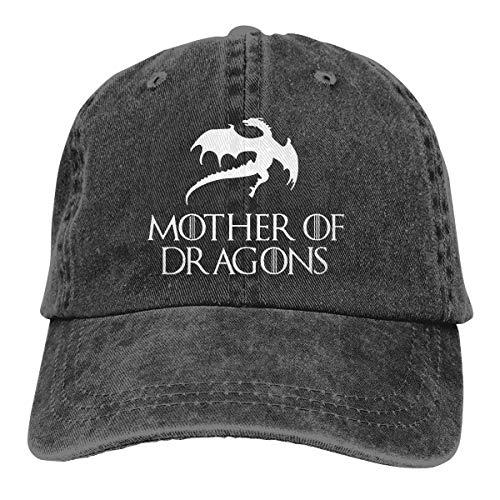 (Syins Customized New Way 691 - Women's Long Sleeve T-Shirt Mother of Dragons Game of Thrones Targaryen Fashion Baseball Caps for Man Black)