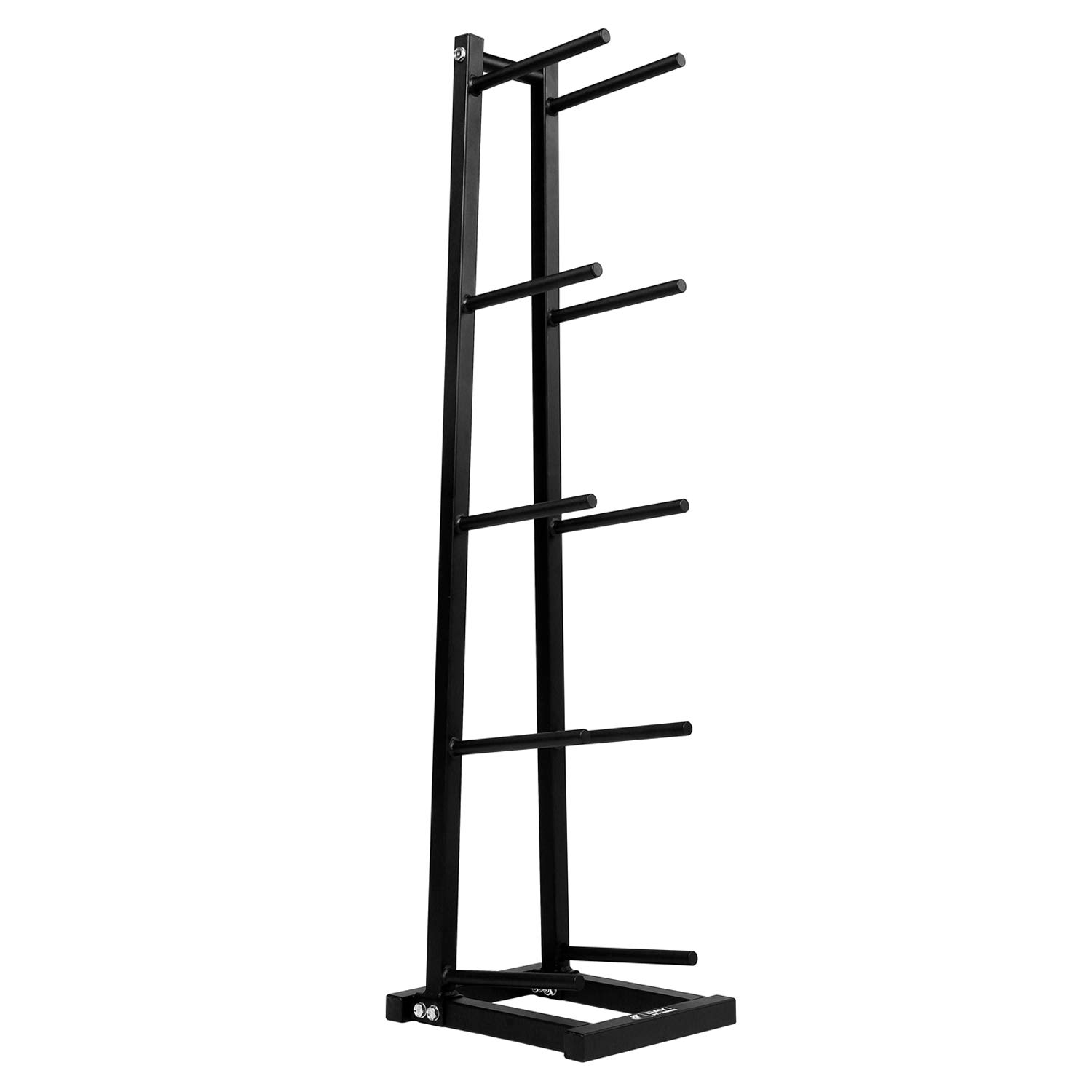 Day 1 Fitness 5-Tier Medicine Ball Storage Rack, Steel - Narrow, Vertical Exercise Ball Organizer for 5 Weighted Fitness Balls - Easy-to-Assemble, Sturdy Med Ball Tree for Home and Professional Gyms