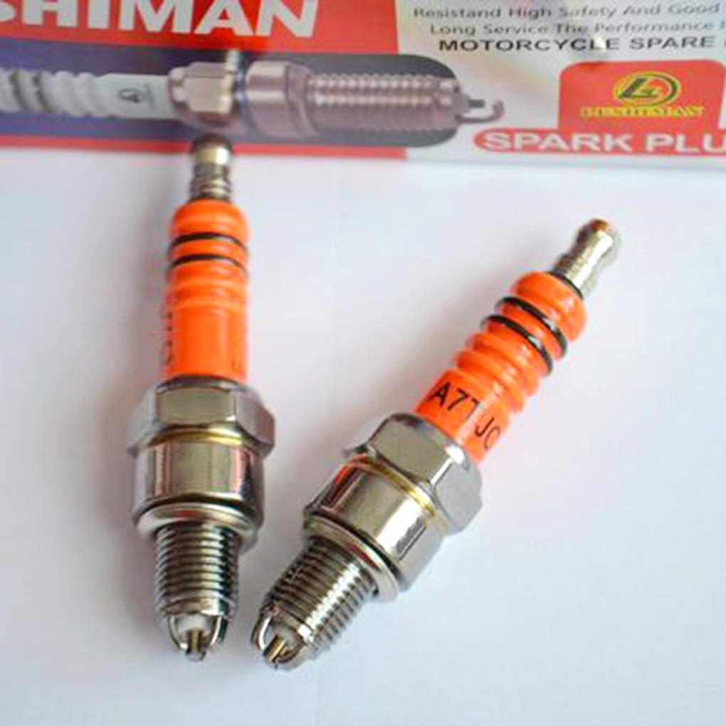 Lidahaotin Motorrad Ersatzteile Z/ündkerzen Hochleistungs-3-Elektroden-Motorrad-Z/ündkerze Spark Plugs High A7TC