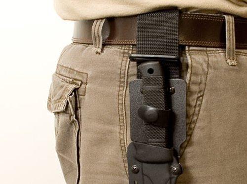 "SOG SEAL Pup Fixed Blade M37K Black Powder Coated 4.75"" AUS 8 Blade, GRN Handle, Hard Molded Nylon Sheath"