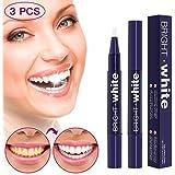 3 PCS Teeth Whitening Pen - Upgrade Gel Teeth Whitener Kit with Safe 35% Carbamide Peroxide Gel, No Sensitivity