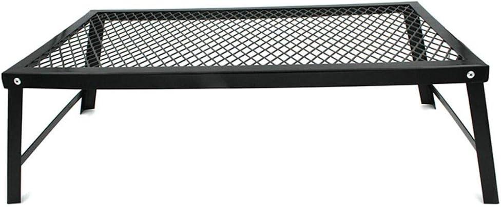 ZA Mesa de picnic plegable multifuncional para actividades al aire libre Barbacoa portátil Mesa de red de almacenamiento en rack Soporte de exhibición Rack de barbacoa Rack de drenaje Mini Mesa baja