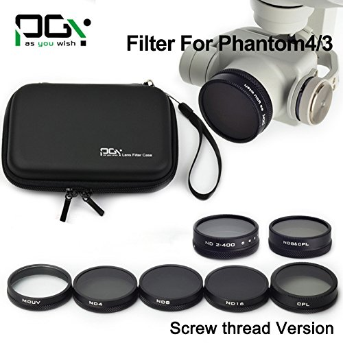 MCUV/CPL/ND4/ND8/ND16/ND2-400/ND8&CPL Camera Filter Lens for DJI Phantom 4/3 Professional&Advanced 4K HD Camera Drone RC Quadcopter -  XSD MOEDL