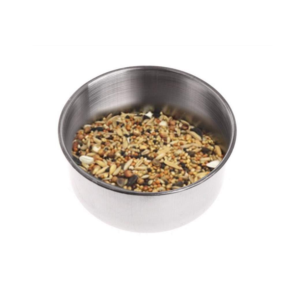 Starter in acciaio INOX mangiatoia per pappagallo gattino cucciolo piccolo in acciaio INOX Pet Parrot food box