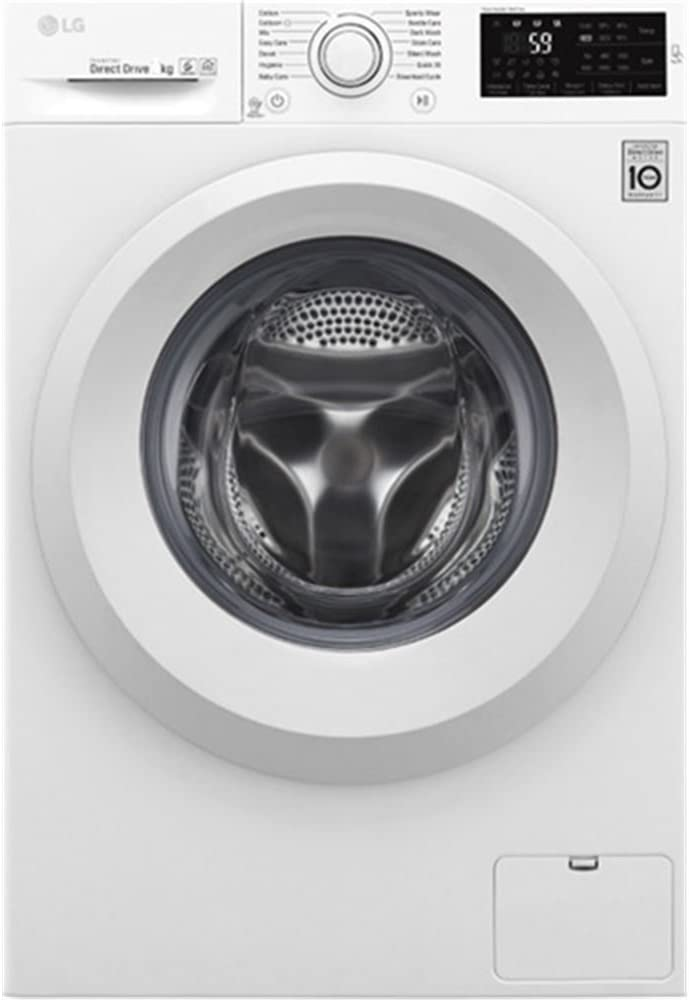 LG F2J5TN3W Independiente Carga frontal 8kg 1200RPM A+++ Blanco - Lavadora (Independiente, Carga frontal, Blanco, Izquierda, LED, Acero inoxidable)