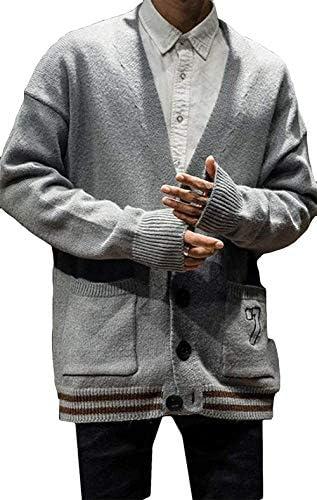 メンズ カーディガン 春 秋 通勤 ロング 大きいサイズ メンズ セーター かっこいい カジュアル 人気 オシャレ アウター トレンド ファッション 長袖 上品 シンプル 通学