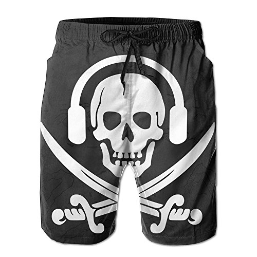 XIYX Sound Ppirates Men's Fashion Fit Summer Shorts Swim Trunk Quick Dry Casual Summer Beach Shorts With Pockets