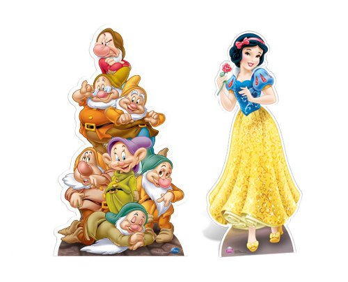 FAN PACK - Snow White and The Seven Dwarves LIFESIZE CARDBOARD CUTOUT (STANDEE / STANDUP) - INCLUDES 8X10 (25X20CM) STAR PHOTO - FAN PACK #289