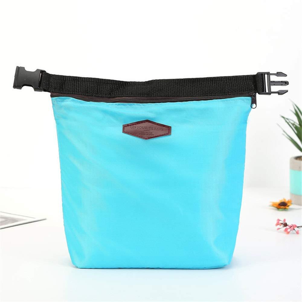 Color : Dark Blue Noodei Bolsa de Almuerzo refrigerador t/érmico Bolsas de Picnic para Guardar Bolsas de Asas Queseros Caja de Almuerzo aislada refrigerador port/átil a Prueba de Agua