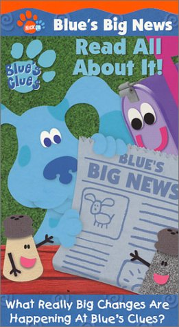 amazon com blue s clues blue s big news read all about it vhs