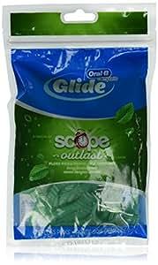Oral-B Complete Glide, Floss Picks Plus Scope Outlast, Long Lasting Mint, 75 Floss Picks, (Pack of 6)