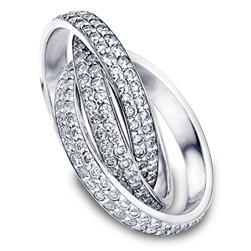 18K White Gold Diamond Rolling
