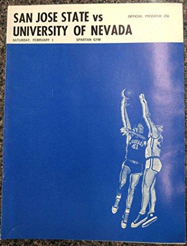 fan products of San Jose State vs U of Nevada Basketball 1968 Program J62233