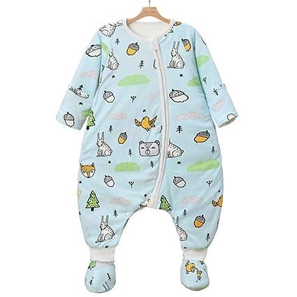 Saco de dormir para bebé Primavera y otoño Mangas desmontables de algodón fino Saco de dormir